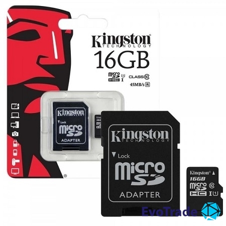 Карта памяти 16 Gb microSD Kingston UHS-I G2 (Premium) SDC10G2/16GB