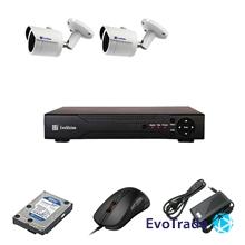 Комплект видеонаблюдения на 2 камеры EvoVizion IP-2OUT-130 + HDD 1 Тб