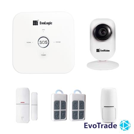 Комплект беспроводной сигнализации EvoLogic GSS 014 + IP камера EvoVizion IP-mini-03