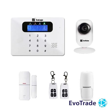 Комплект беспроводной сигнализации EvoLogic GSS 017 + потолочная IP камера EvoVizion IP-mini-03