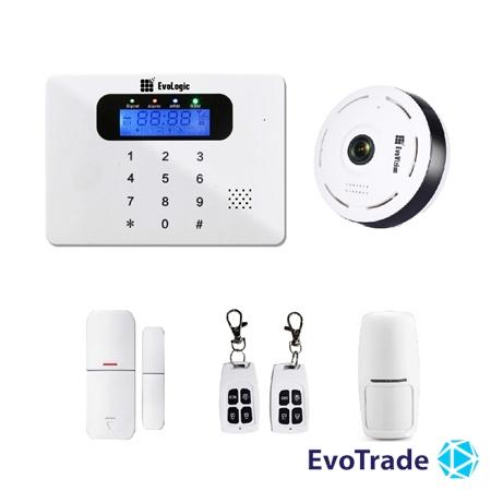 Комплект беспроводной сигнализации EvoLogic GSS 017 + потолочная IP камера EvoVizion IP-mini-06