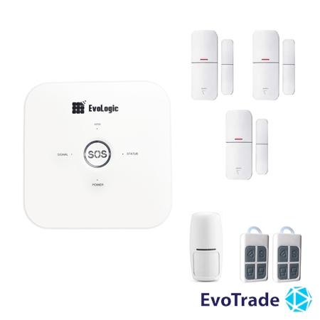 Зображення Комплект беспроводной сигнализации EvoLogic GSS 014 + 2 DD