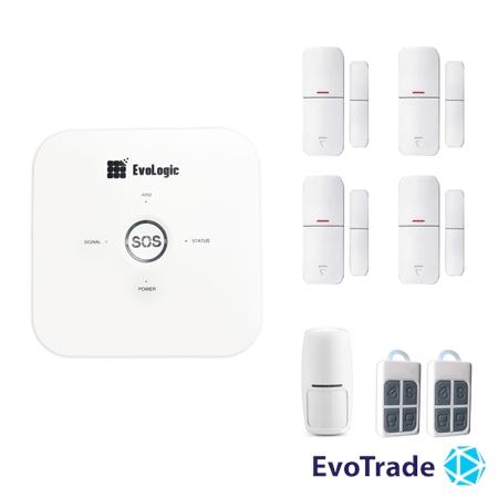 Изображение Комплект беспроводной сигнализации EvoLogic GSS 014 + 3 DD