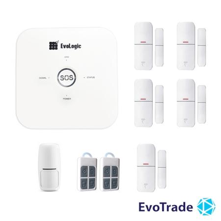 Зображення Комплект беспроводной сигнализации EvoLogic GSS 014 + 4 DD