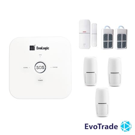Изображение Комплект беспроводной сигнализации EvoLogic GSS 014 + 2 PIR
