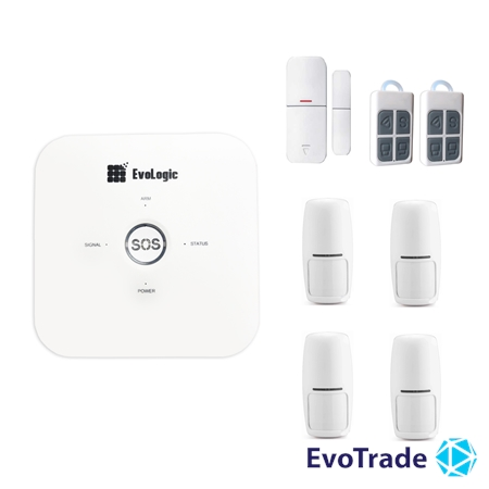 Зображення Комплект беспроводной сигнализации EvoLogic GSS 014 + 3 PIR