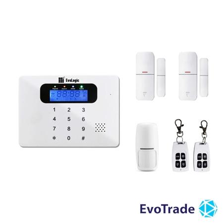 Изображение Комплект беспроводной сигнализации EvoLogic GSS 017 + 1 DD
