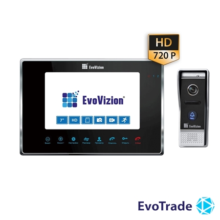 EvoVizion VP-706AHD Black + DP-05AHD - комплект домофона