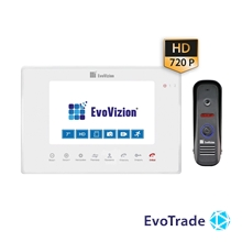 EvoVizion VP-706AHD White + DP-04 - комплект домофона