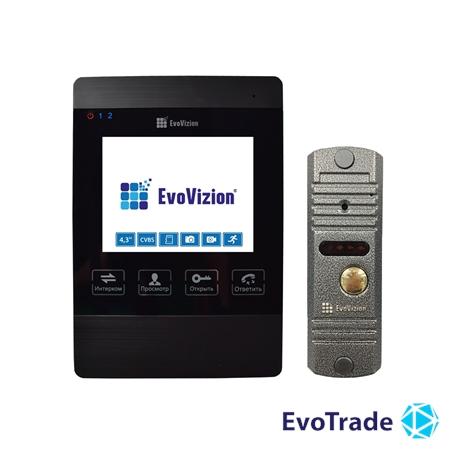 Комплект домофона EvoVizion VP-432 Black + DP-03 Silver