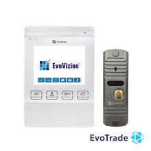 Комплект домофона EvoVizion VP-432 White + DP-03 Silver