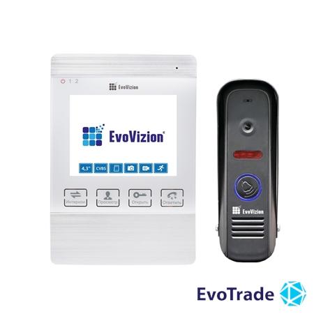 Комплект домофона EvoVizion VP-432 White + DP-04