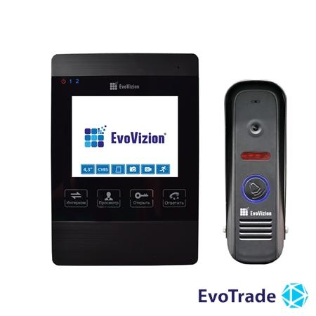 Комплект домофона EvoVizion VP-432 Black + DP-04