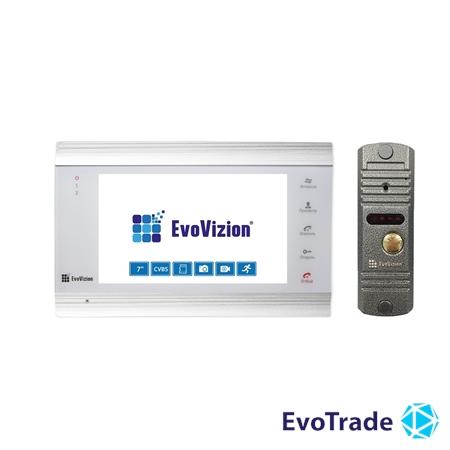 Комплект домофона EvoVizion VP-701 White + DP-03 Silver