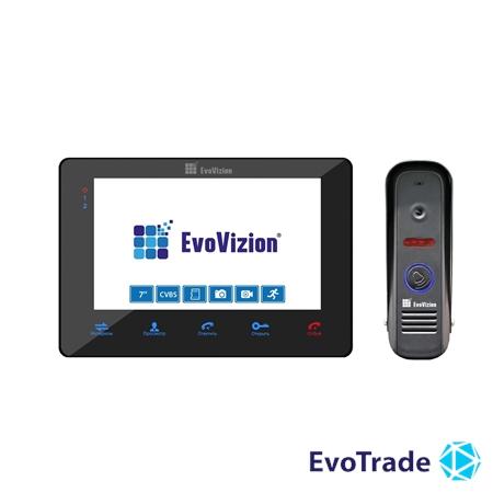 Комплект домофона EvoVizion VP-705 Black + DP-04