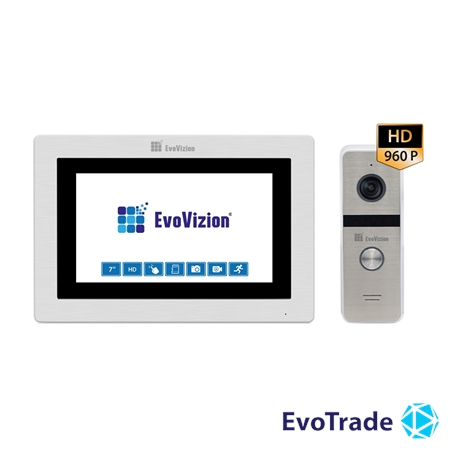Комплект домофона EvoVizion VP-713TS AHD + DP-06 Silver