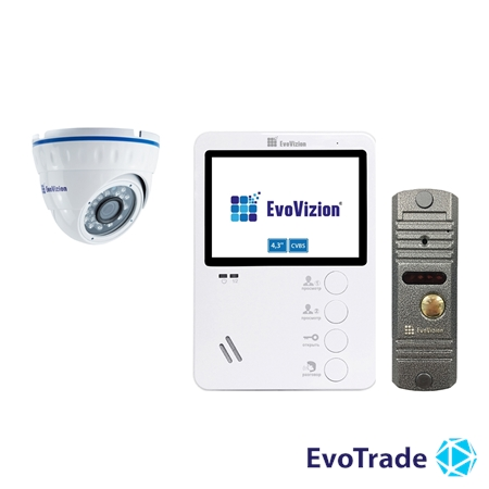 Комплект домофона EvoVizion VP-430 + DP-03 Silver cam