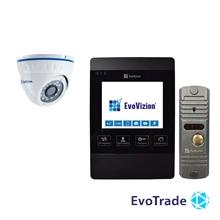 Комплект домофона EvoVizion VP-432 Black + DP-03 Silver cam