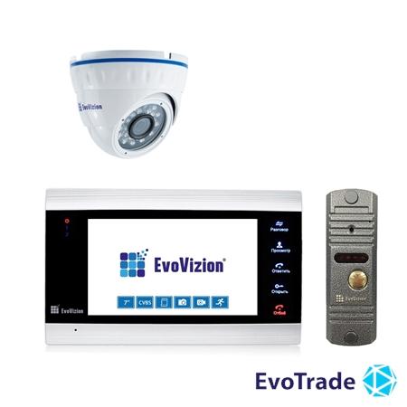 Комплект домофона EvoVizion VP-701 + DP-03 Silver cam