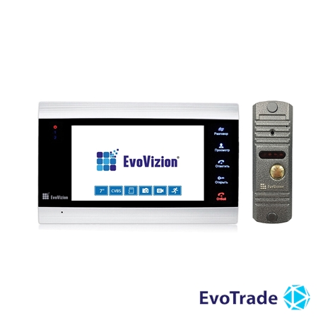 Комплект домофона EvoVizion VP-701 + DP-03 Silver