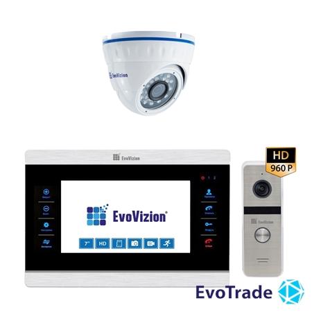Комплект домофона EvoVizion VP-708AHD + DP-06AHD cam