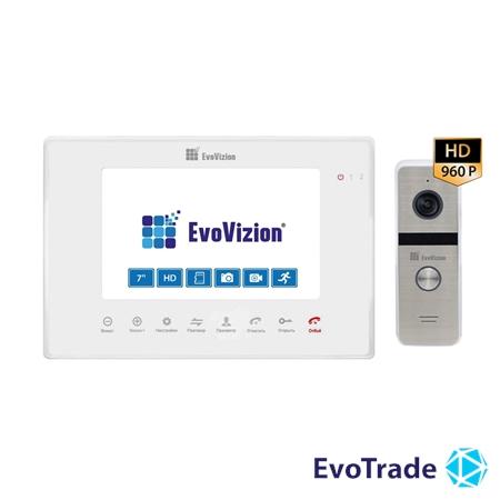 Комплект домофона EvoVizion VP-706AHD White + DP-06AHD