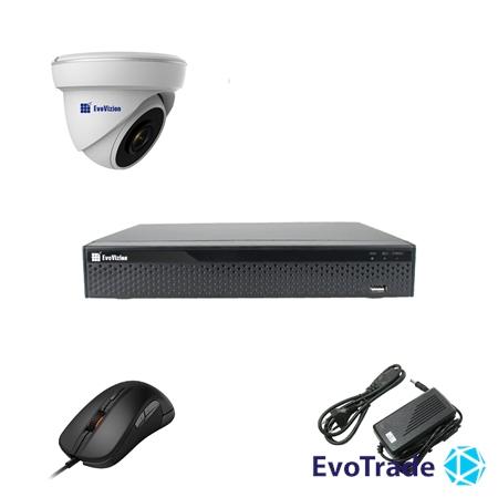 Комплект видеонаблюдения на 1 камеру EvoVizion 1DOM-200-эконом