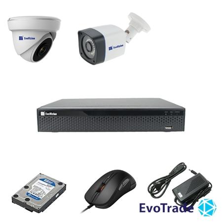 Комплект видеонаблюдения на 2 камеры EvoVizion 1DOME-1OUT-200 + HDD 1 Тб