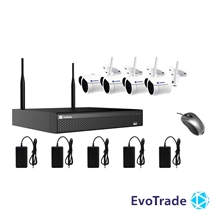 Комплект видеонаблюдения Wi-FI Evovizion на 4 камеры Wi-Fi KIT 2.4-846*4