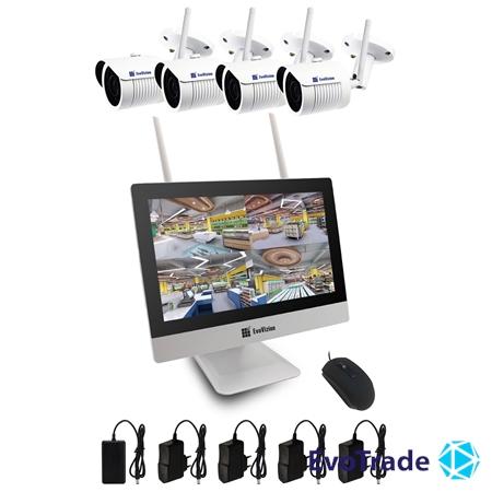 Комплект видеонаблюдения Wi-FI Evovizion на 4 камеры Wi-Fi LCD KIT 2.4-846*4
