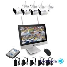 Комплект видеонаблюдения Wi-FI Evovizion на 4 камеры Wi-Fi LCD KIT 2.4-846*4 + HDD