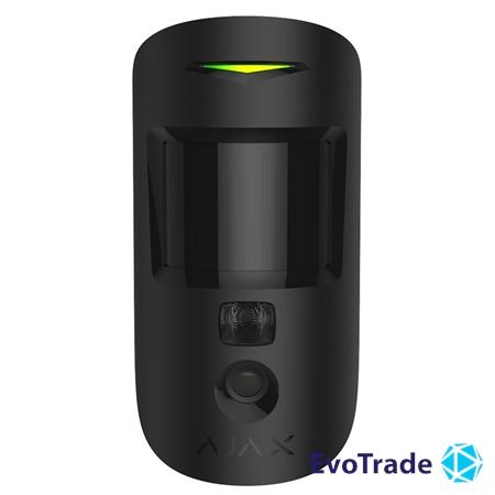 Зображення Беспроводной датчик движения с фотофиксацией Ajax MotionCam Black