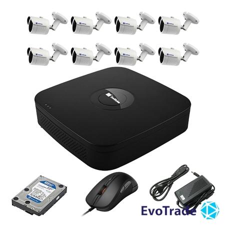 Комплект видеонаблюдения на 8 камер EvoVizion N9 IP-8OUT-240 + HDD 2 Тб