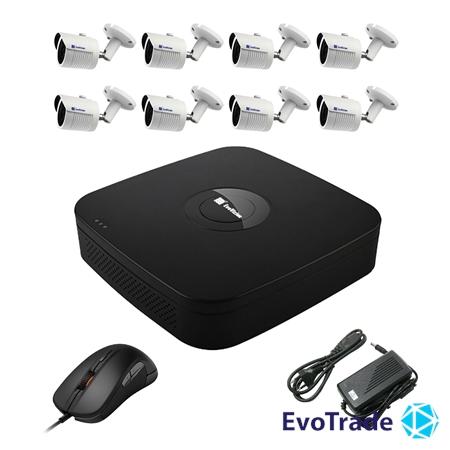 Комплект видеонаблюдения на 8 камер EvoVizion N9 IP-8OUT-240