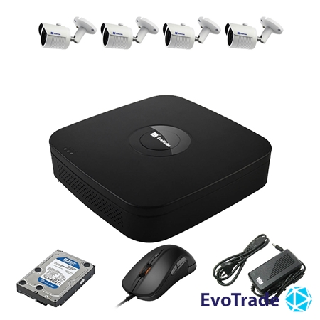 Комплект видеонаблюдения на 4 камеры EvoVizion N9 IP-4OUT-240 + HDD 1 Тб