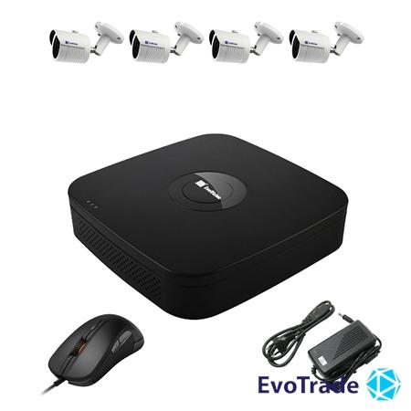 Комплект видеонаблюдения на 4 камеры EvoVizion N9 IP-4OUT-240