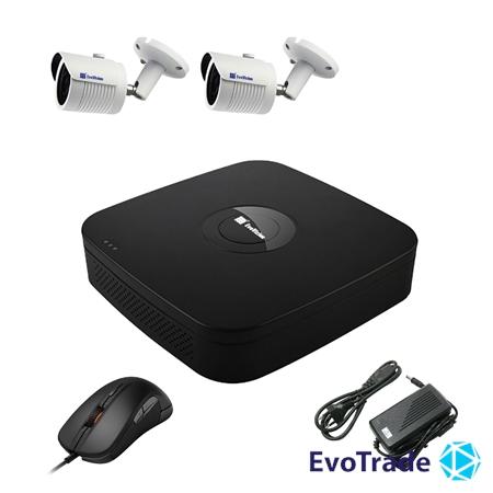 Комплект видеонаблюдения на 2 камеры EvoVizion N9 IP-2OUT-240