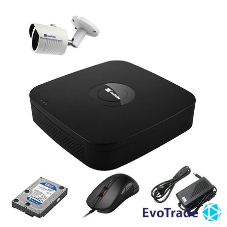Комплект видеонаблюдения на 1 камеру EvoVizion N9 IP-1OUT-240 + HDD 1 Тб