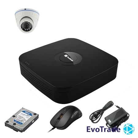 Комплект видеонаблюдения на 1 камеру EvoVizion N9 IP-1DOME-M-240 + HDD 1 Тб