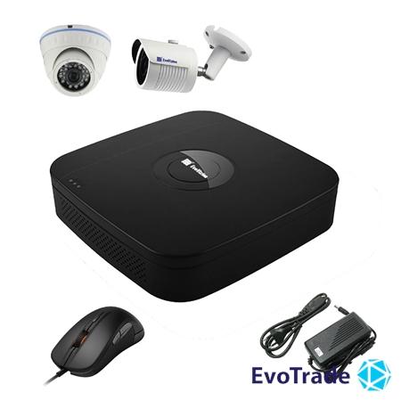 Комплект видеонаблюдения на 2 камеры EvoVizion N9 IP-1DOME-M-1OUT-130
