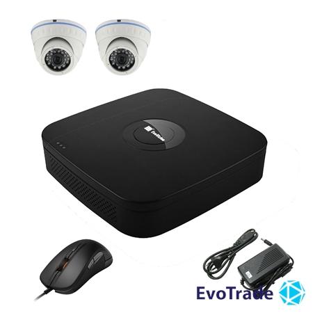 Комплект видеонаблюдения на 2 камеры EvoVizion N9 IP-2DOME-M-130