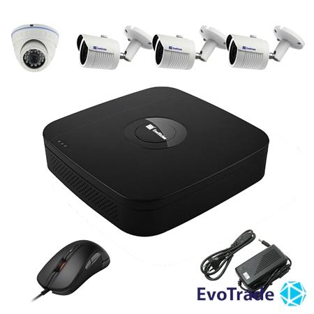 Комплект видеонаблюдения на 4 камеры EvoVizion N9 IP-1DOME-M-3OUT-240