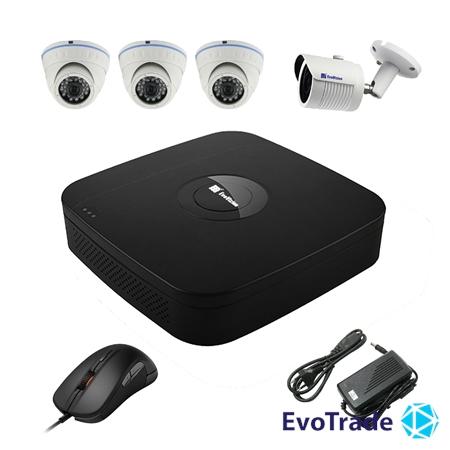 Комплект видеонаблюдения на 4 камеры EvoVizion N9 IP-3DOME-M-1OUT-130