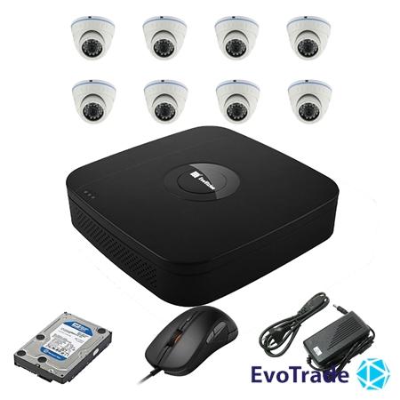 Комплект видеонаблюдения на 8 камер EvoVizion N9 IP-8DOME-M-240 + HDD 1 Тб