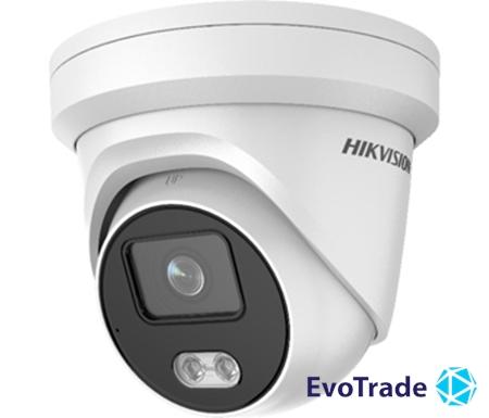 Зображення 2 Мп ColorVu IP видеокамера Hikvision Hikvision DS-2CD2327G2-LU (4 мм)