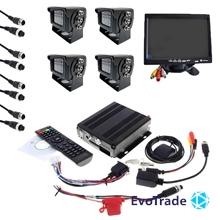 Комплект видеонаблюдения на транспорт EvoVizion avtokit-4 TV