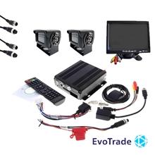 Комплект видеонаблюдения на транспорт EvoVizion avtokit-2 TV