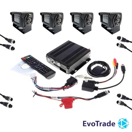 Комплект видеонаблюдения на транспорт EvoVizion avtokit-4