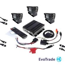Комплект видеонаблюдения на транспорт EvoVizion avtokit-3