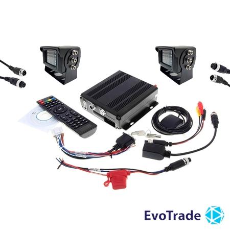 Комплект видеонаблюдения на транспорт EvoVizion avtokit-2
